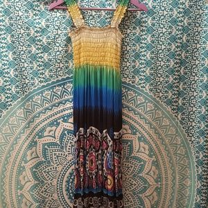 Colorful Summer Sleeveless Maxi Sundress Dress XL